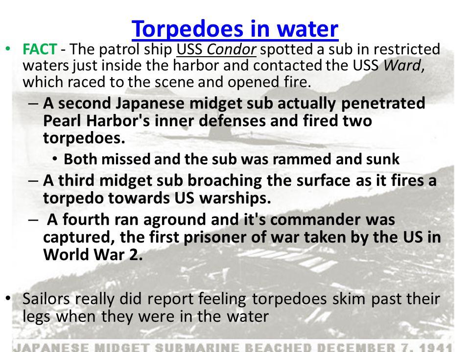 Torpedoes in water