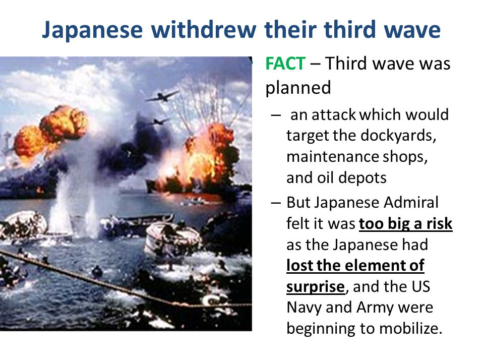 Japanese withdrew their third wave