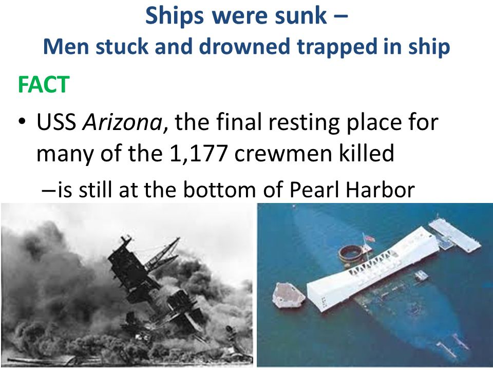 Ships were sunk – Men stuck and drowned trapped in ship