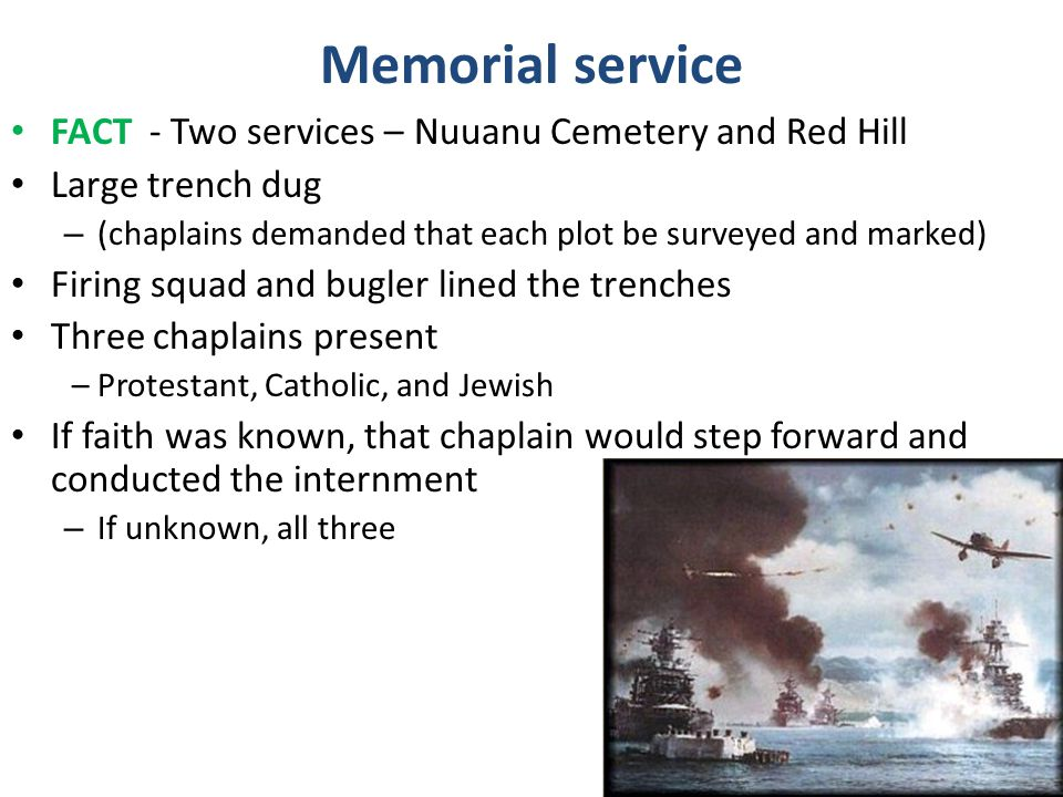 Memorial service FACT - Two services – Nuuanu Cemetery and Red Hill