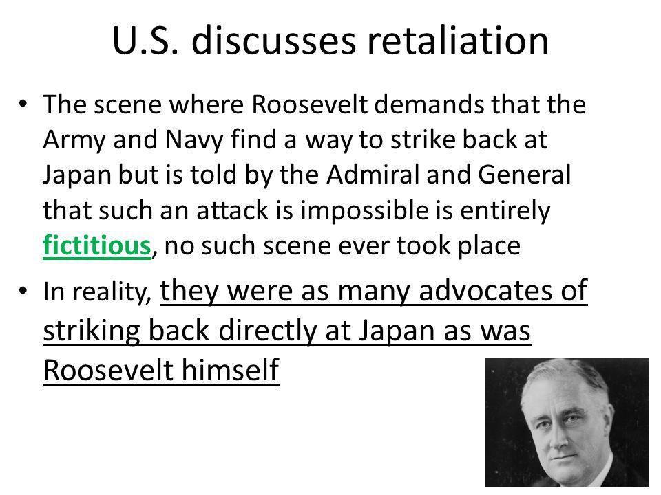 U.S. discusses retaliation