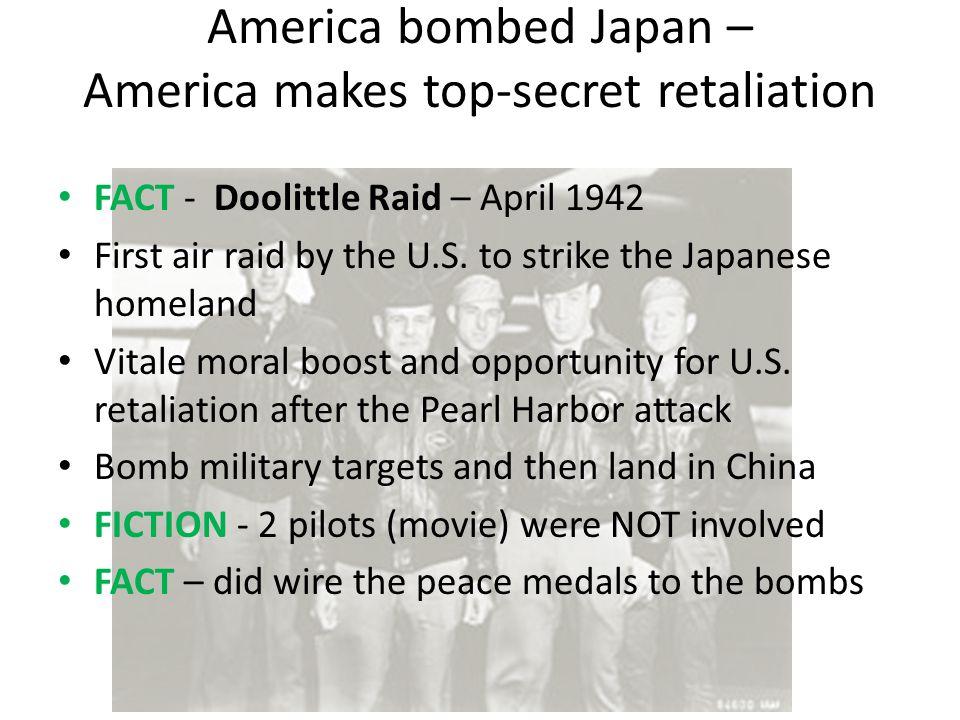 America bombed Japan – America makes top-secret retaliation