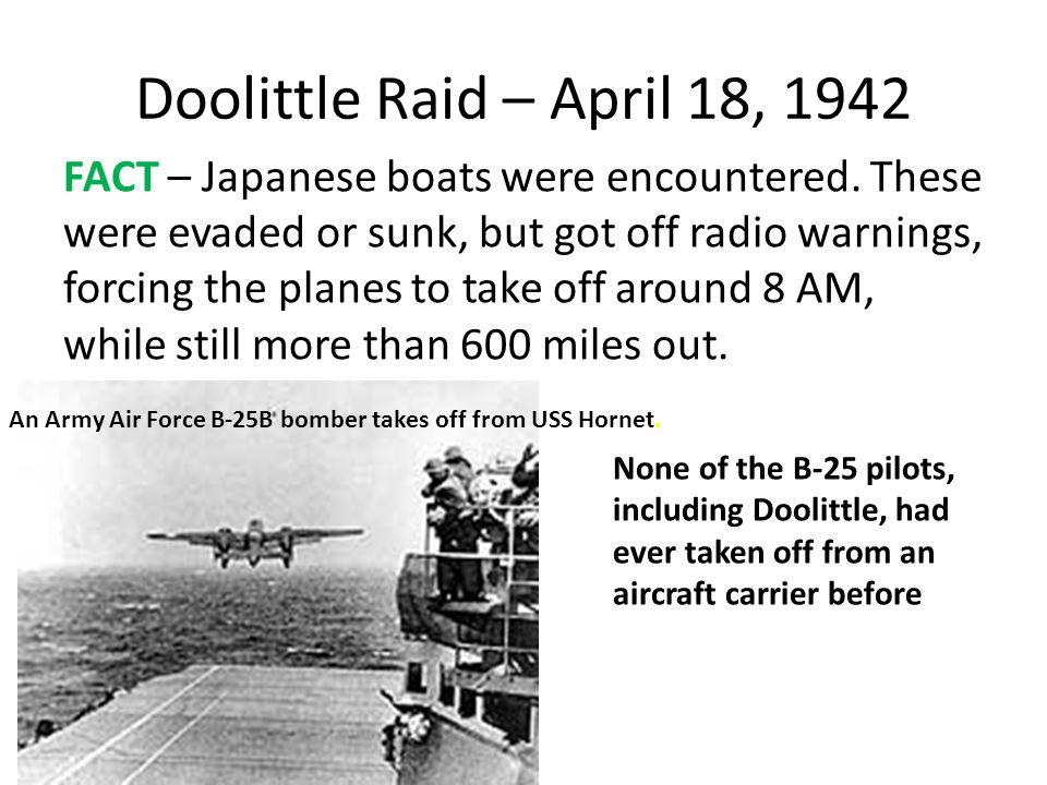 Doolittle Raid – April 18, 1942