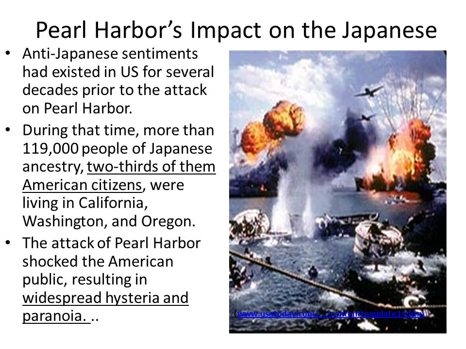 Pearl Harbor's Impact on the Japanese
