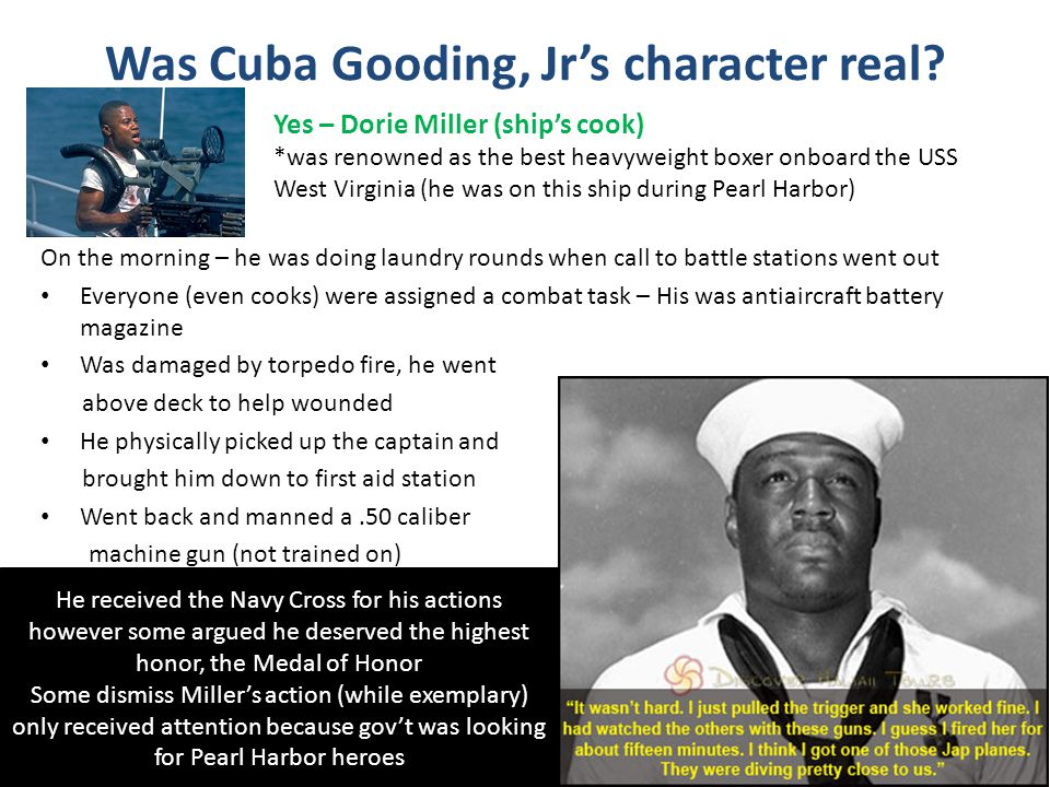 Was Cuba Gooding, Jr's character real