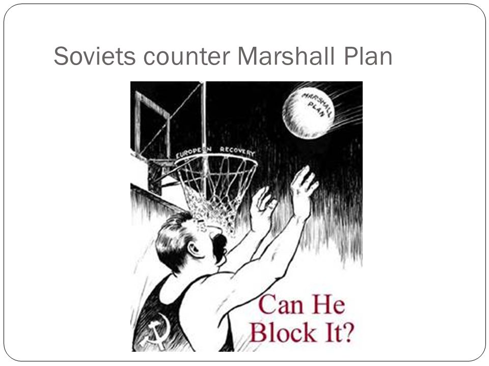 Soviets counter Marshall Plan