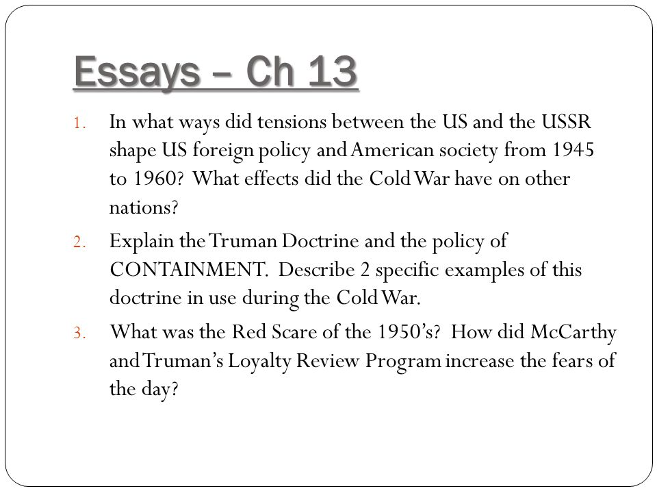 how did the cold war effect australia essay