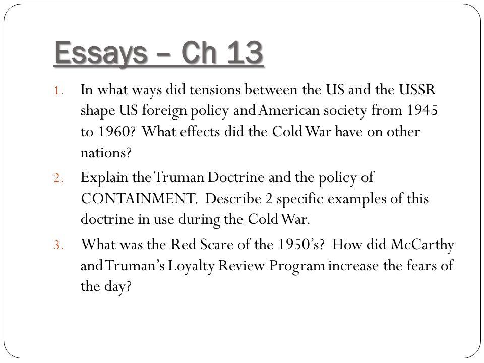 Essays – Ch 13