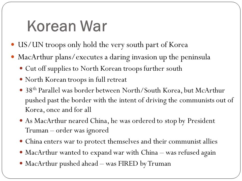 Korean War US/UN troops only hold the very south part of Korea