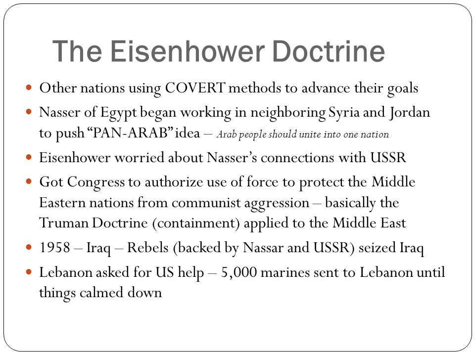 The Eisenhower Doctrine
