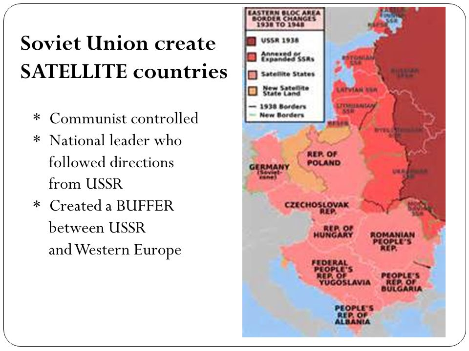 Soviet Union create SATELLITE countries