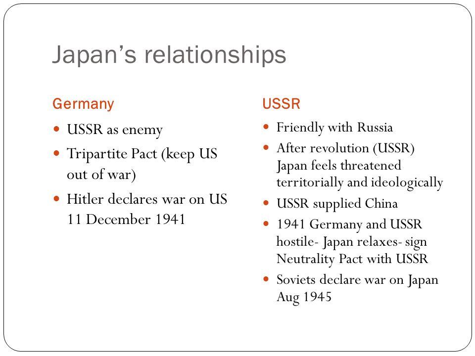 Japan's relationships