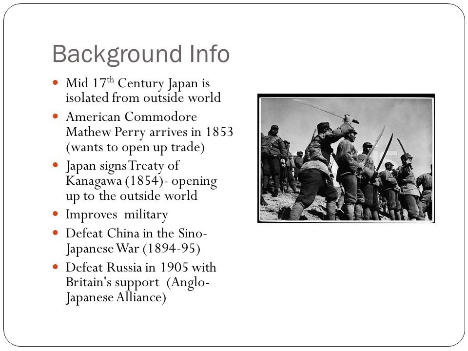 Background Info Mid 17th Century Japan is isolated from outside world