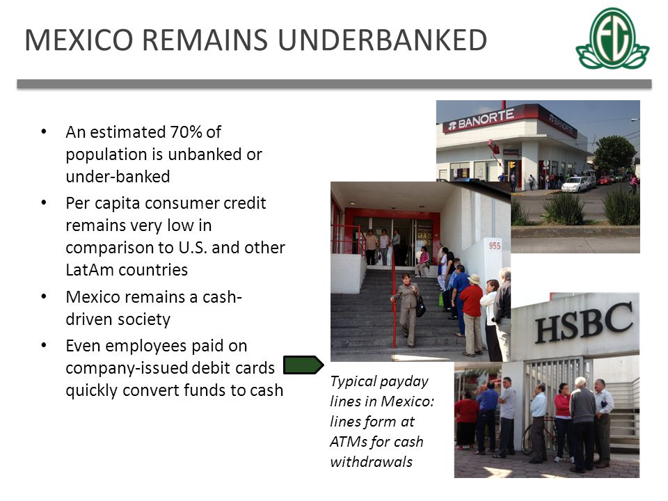 MEXICO REMAINS UNDERBANKED