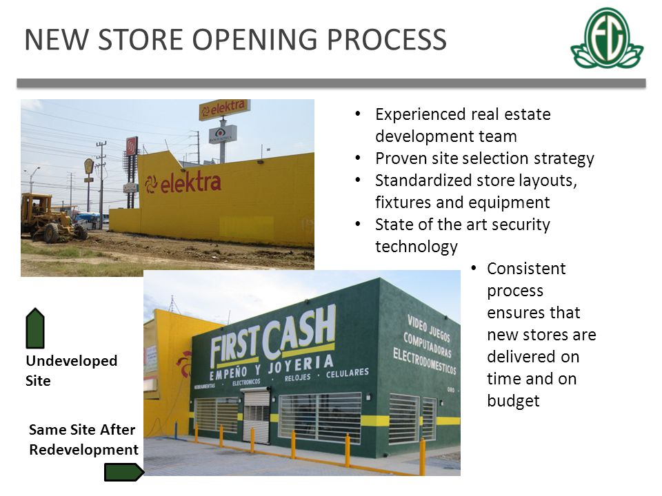 NEW STORE OPENING PROCESS