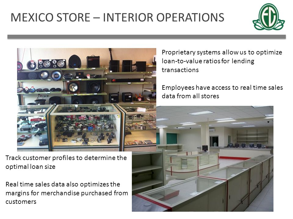MEXICO STORE – INTERIOR OPERATIONS
