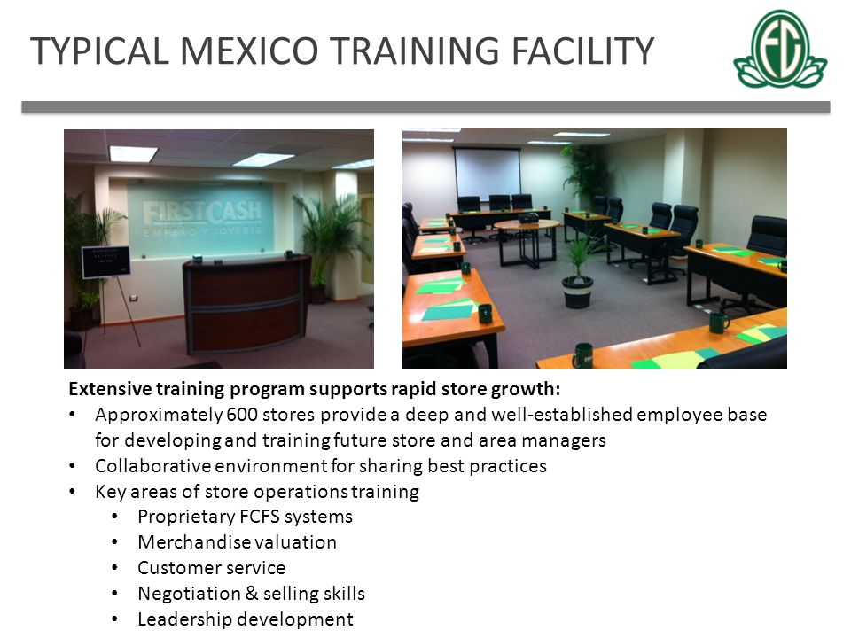 TYPICAL MEXICO TRAINING FACILITY