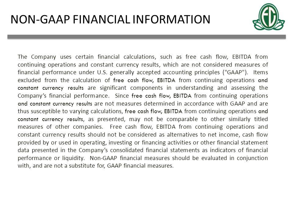 NON-GAAP FINANCIAL INFORMATION