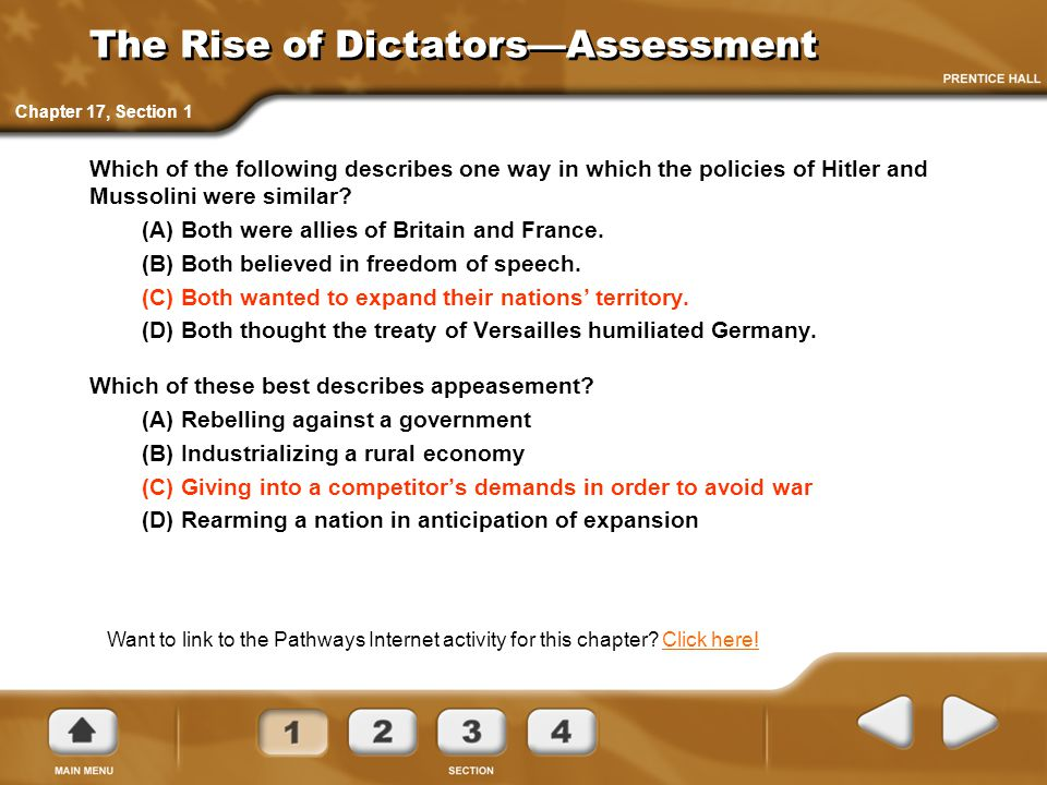 The Rise of Dictators—Assessment