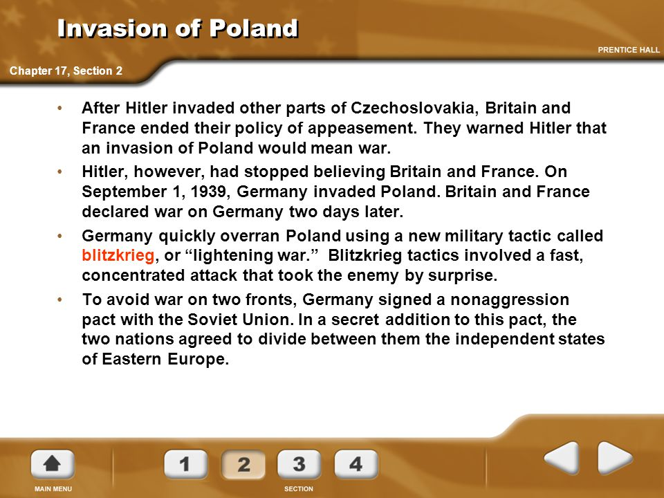 Invasion of Poland Chapter 17, Section 2.