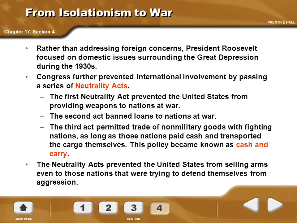 From Isolationism to War