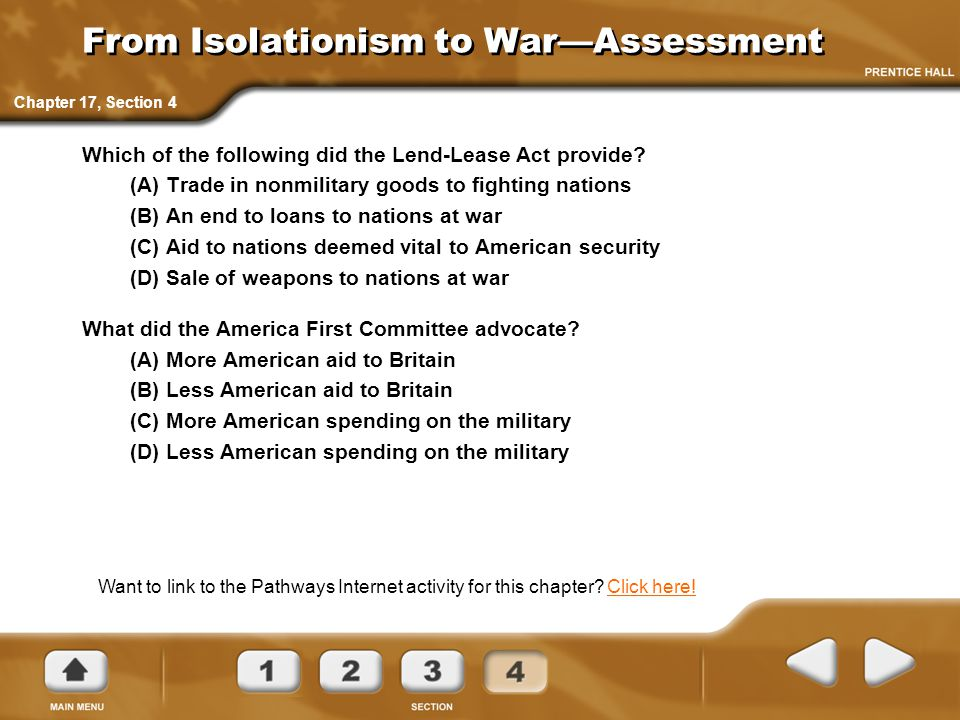 From Isolationism to War—Assessment