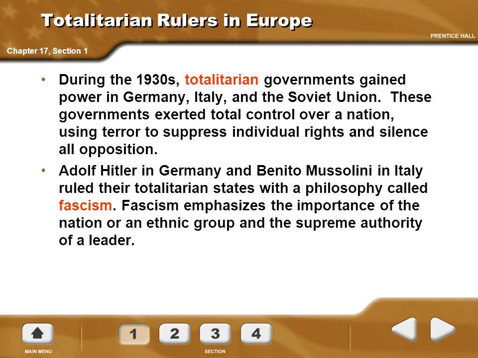 Totalitarian Rulers in Europe
