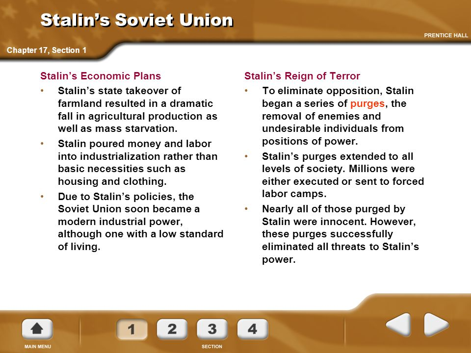 stalins methods for removing the opposition Stalin believed that the ussr had to unite against the powers of the capitalist countries, and to achieve this, he believed that he had to eliminate all opposition of the communist ideologies in russia.
