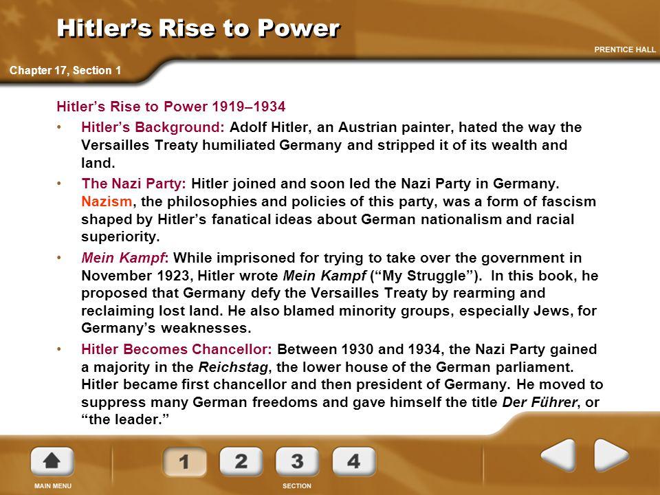 Hitler's Rise to Power Hitler's Rise to Power 1919–1934