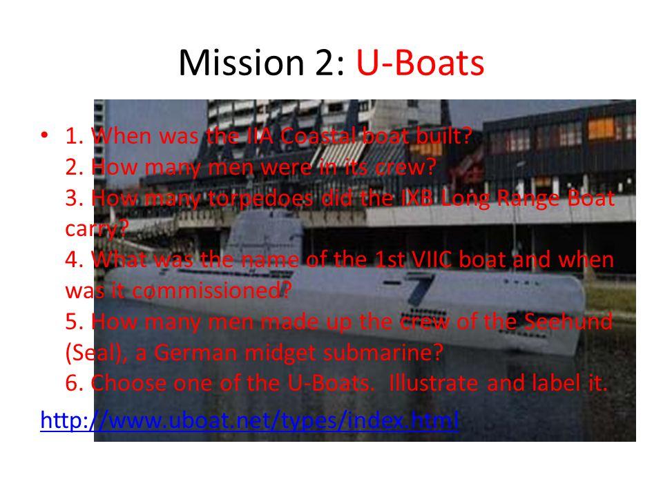Mission 2: U-Boats