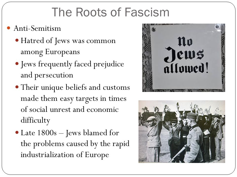 The Roots of Fascism Anti-Semitism