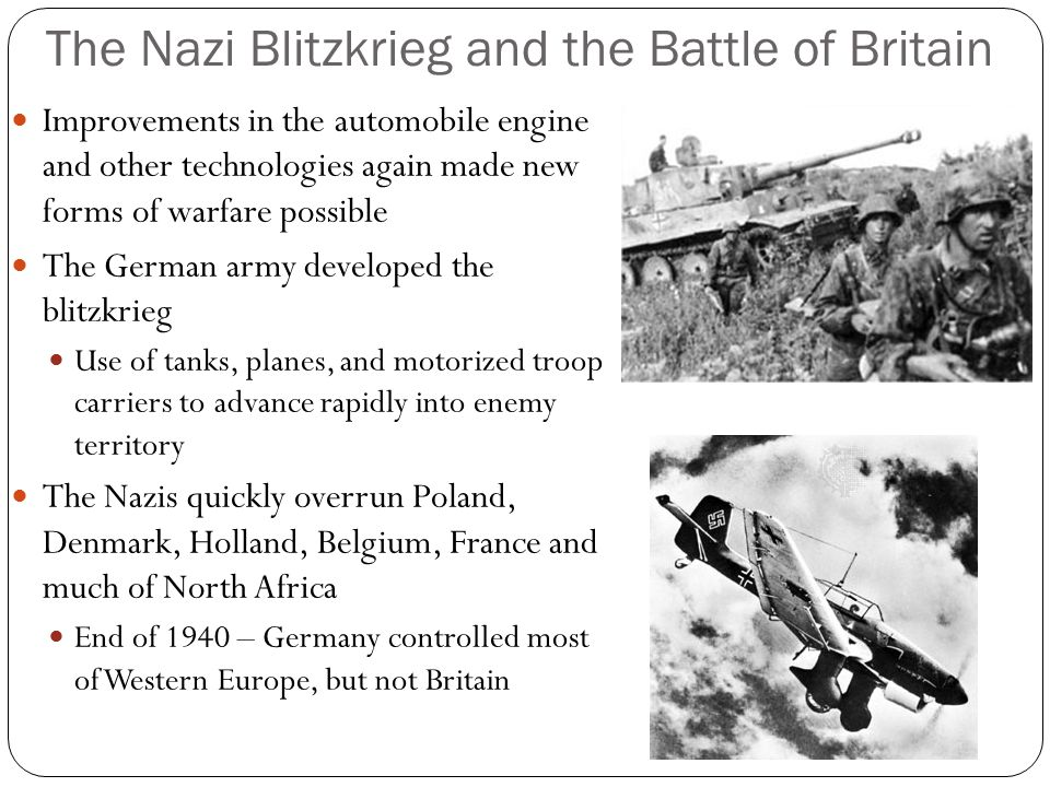 The Nazi Blitzkrieg and the Battle of Britain