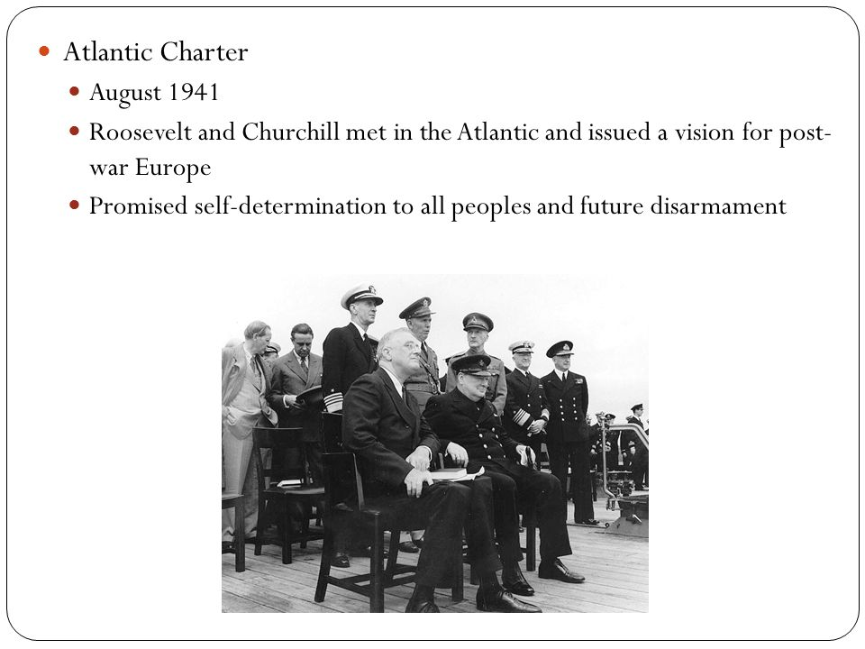 Atlantic Charter August 1941