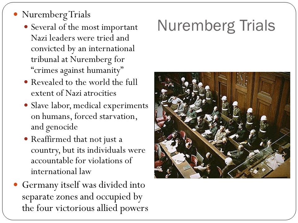 Nuremberg Trials Nuremberg Trials