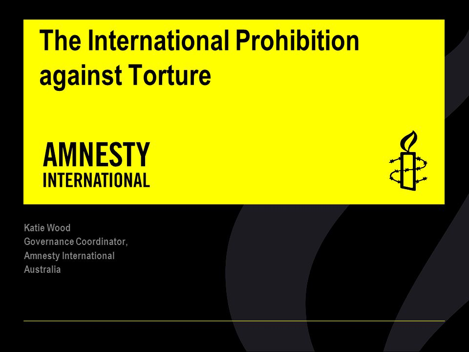 The International Prohibition against Torture