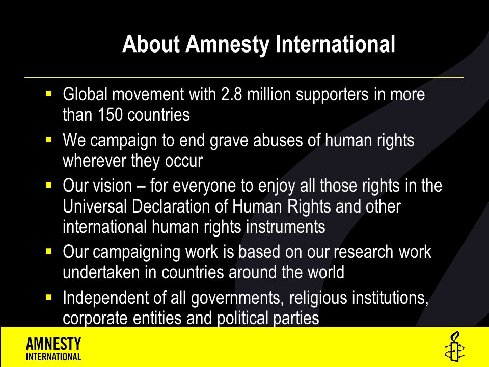 About Amnesty International
