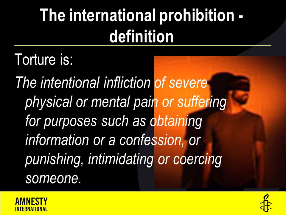The international prohibition - definition