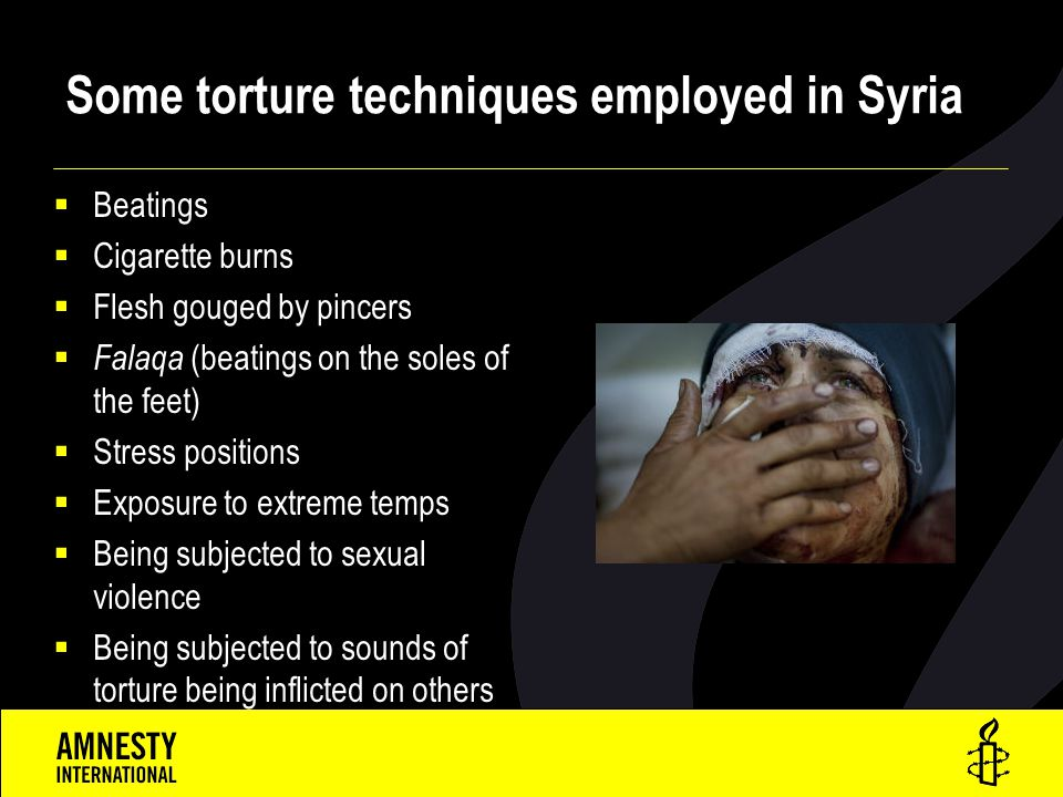 Some torture techniques employed in Syria