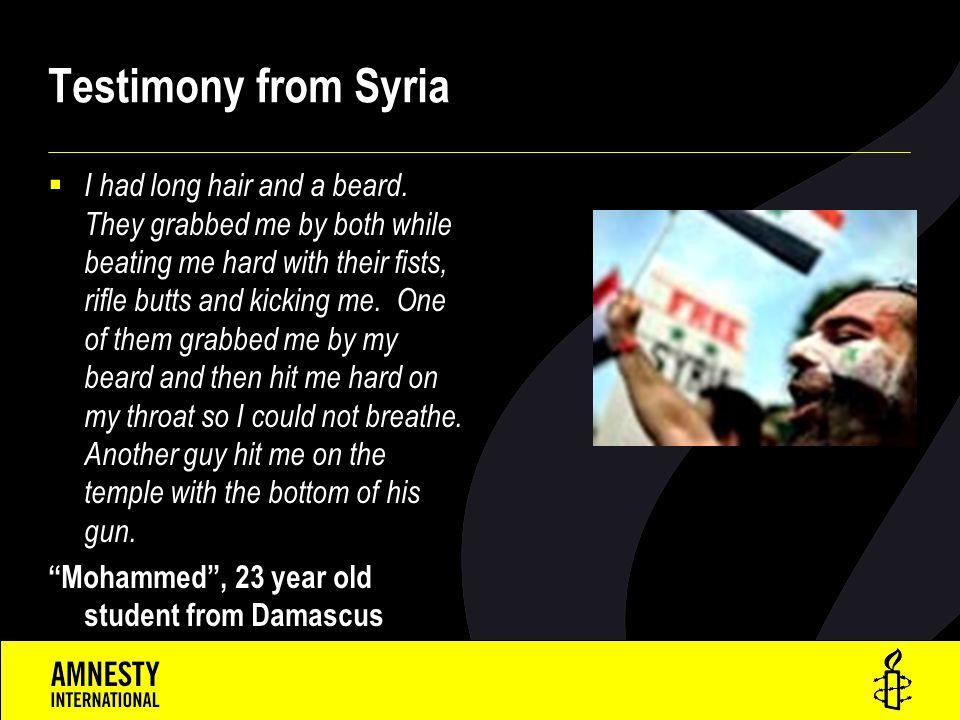 Testimony from Syria