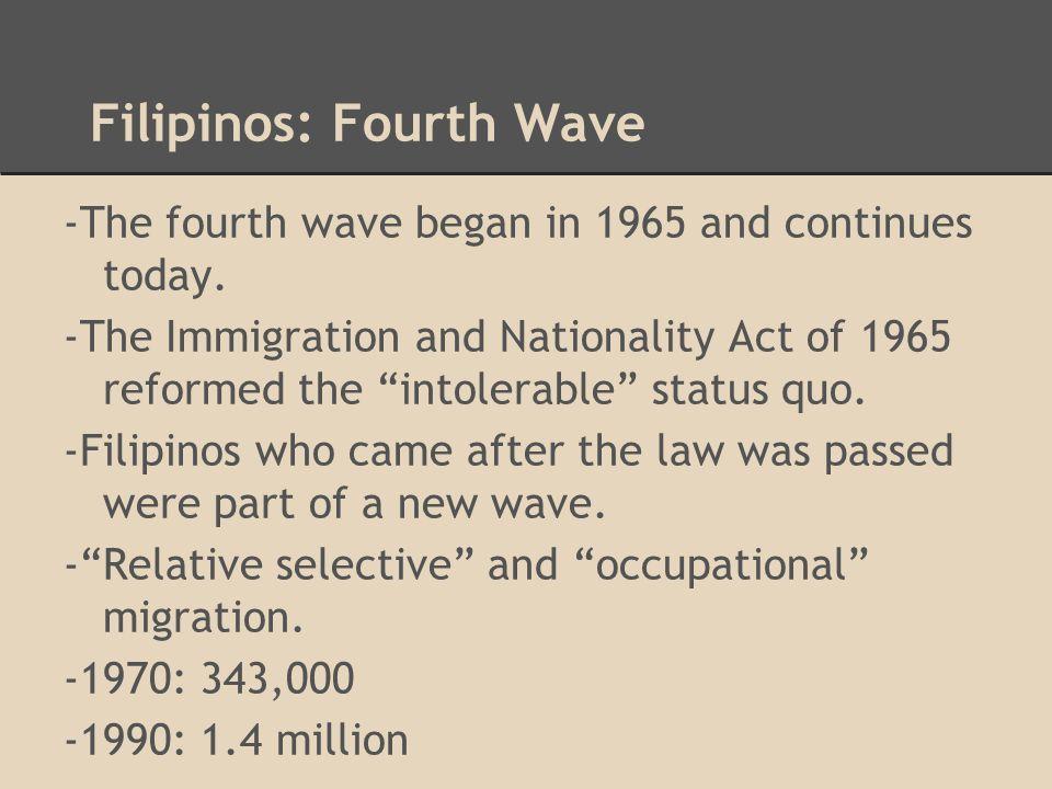 Filipinos: Fourth Wave