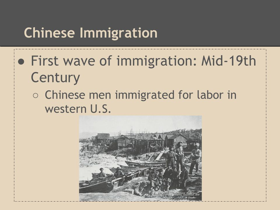 First wave of immigration: Mid-19th Century