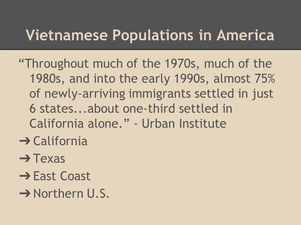 Vietnamese Populations in America