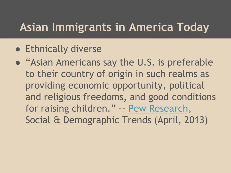 Asian Immigrants in America Today