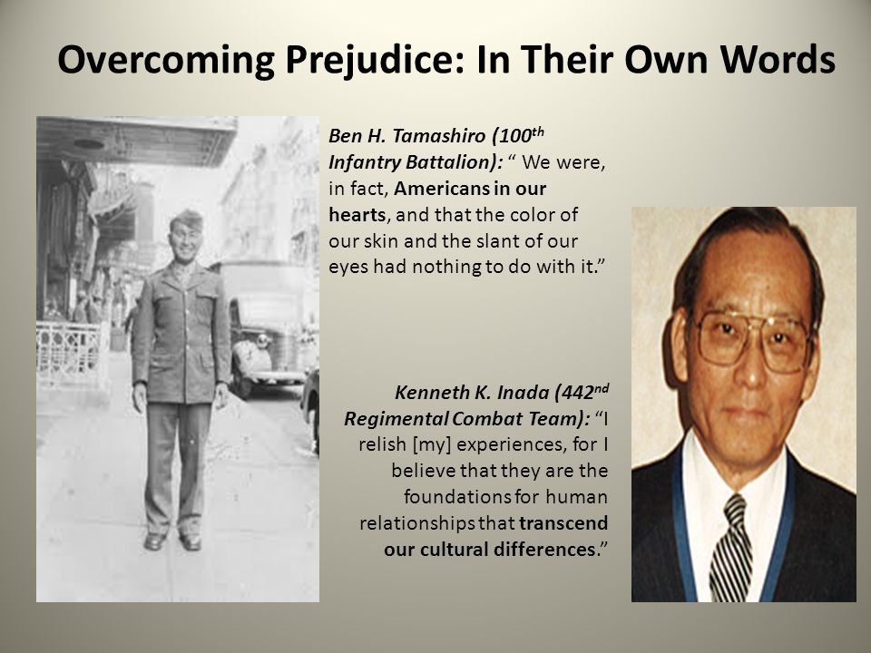 Overcoming Prejudice: In Their Own Words