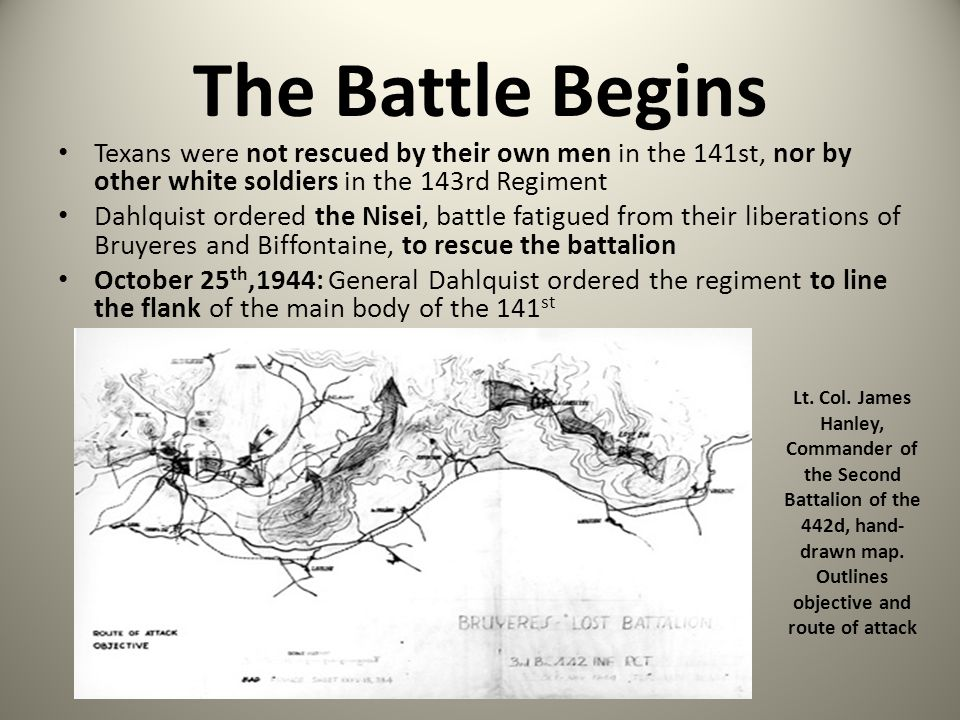 The Battle Begins Texans were not rescued by their own men in the 141st, nor by other white soldiers in the 143rd Regiment.