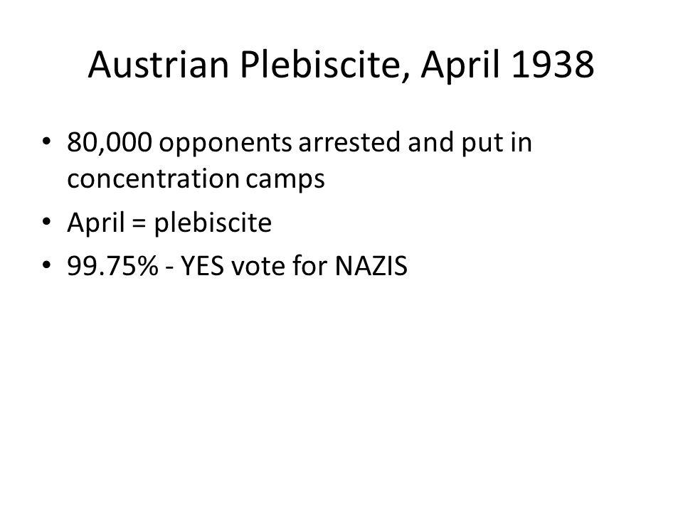 Austrian Plebiscite, April 1938