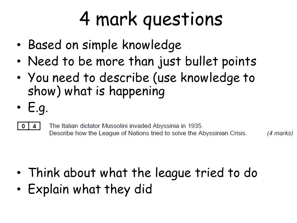 4 mark questions Based on simple knowledge