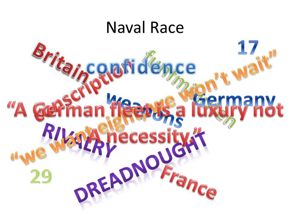 we want eight, we won't wait A German fleet is a luxury not