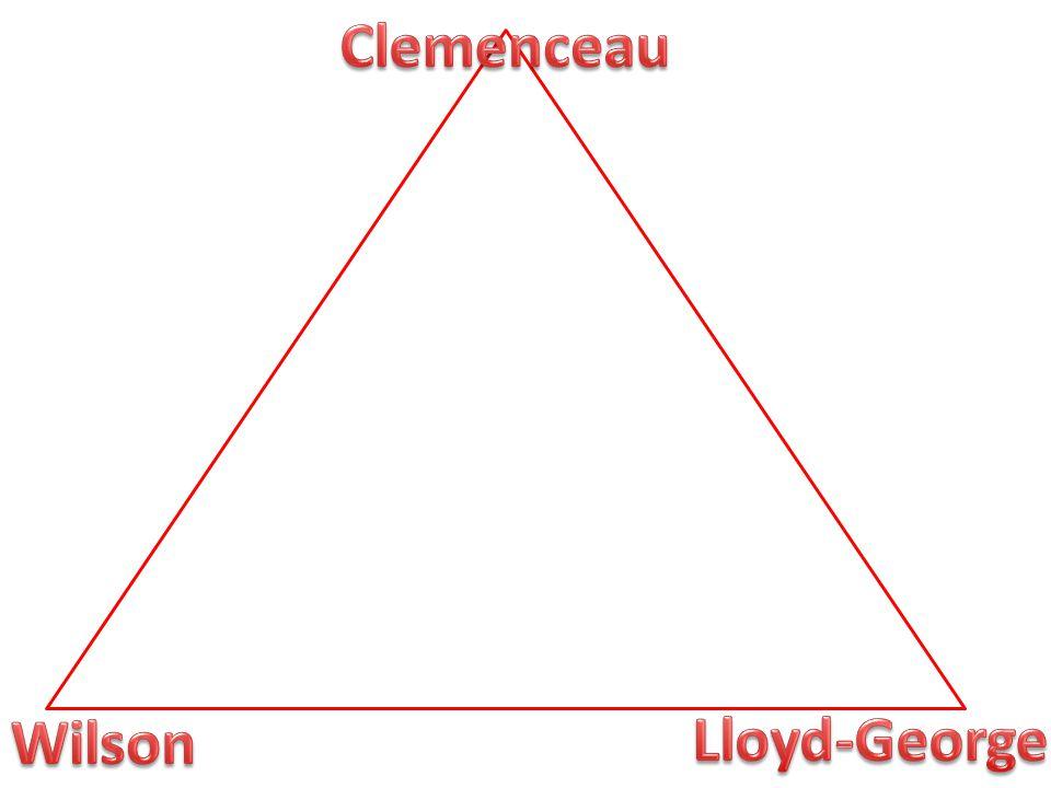 Clemenceau Wilson Lloyd-George