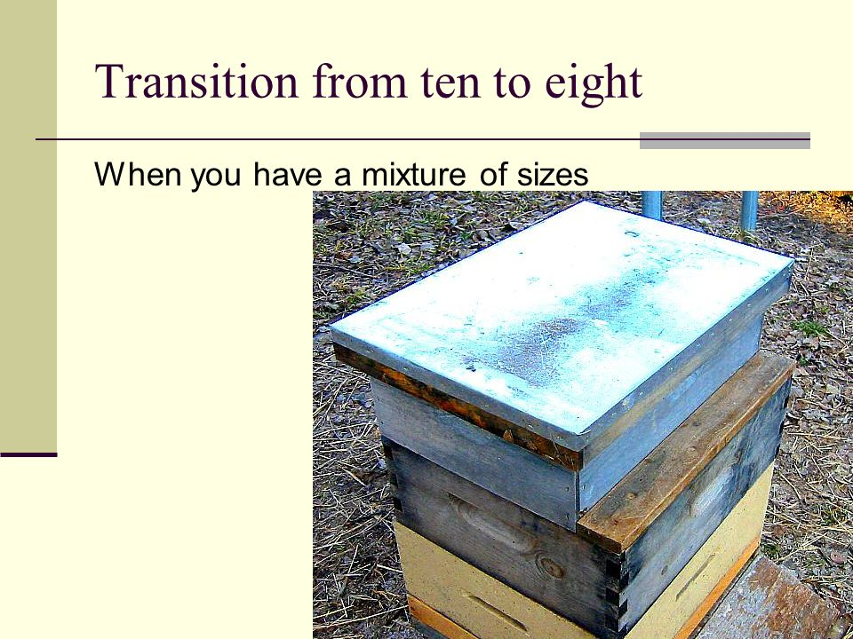 Transition from ten to eight